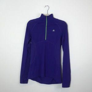 Adidas   Blue Purple 1/4 Zip Pullover   Small